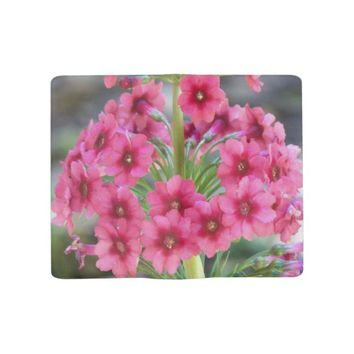 Red Primula Floral Large Moleskine Notebook