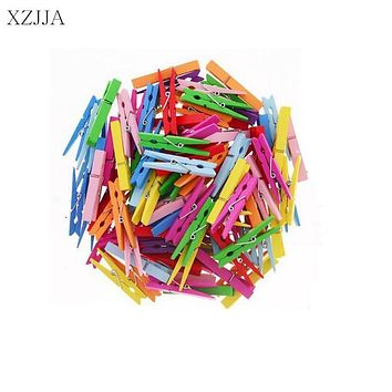XZJJA 20Pcs Big Size 72mm Wood Clothes Pegs Cute Socks Underwear Pins Clothespin Home Decor Photo Paper Clamp Craft Arts Clips