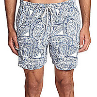 Saks Fifth Avenue Collection - Paisley Print Swim Trunks - Saks Fifth Avenue Mobile