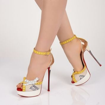 Metricathy 150 Vers Transp/Yellow Patent/PVC - Women Shoes - Christian Louboutin