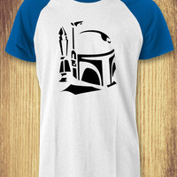 Boba Fett Black Baseball Raglan Tee - zLi Unisex Tees For Man And Woman / T-Shirts / Custom T-Shirts / Tee / T-Shirt