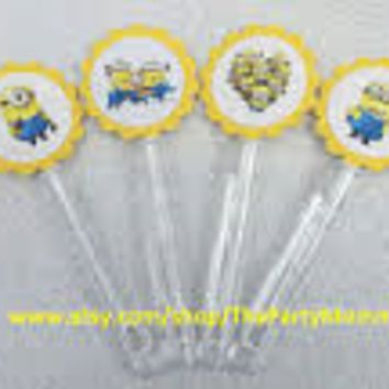 8 Custom Inspired Despicable Me Bubble Wands