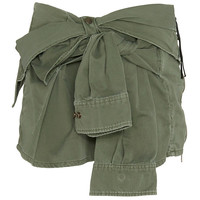 Faith Connexion Tie-Sleeve Shirt Canvas Skirt at INTERMIX | Shop Now | Shop IntermixOnline.com