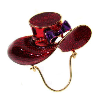Red Hat Pin with Eye Glass Holder Case Pack 3