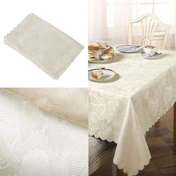 Sparkly Printed Square Table Cover Tablecloth Wedding Party Event Decor