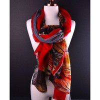 Autumn Leaves Print Scarf