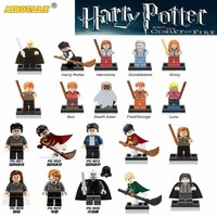 AIBOULLY Harry Potter Single Sale Action Figures legoing Hermione Granger Ron Lord Voldemort Draco Malfoy Blocks Gift Kids Toys