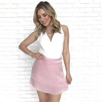 No Limits Satin Pink Skirt