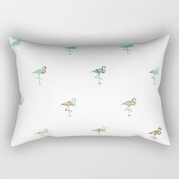 Flamingo Spring Pattern Rectangular Pillow by byjwp