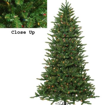 12' Pre-Lit Frasier Fir Artificial Christmas Tree & Rolling Stand - Multi Lights