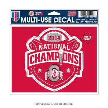 "Licensed Ohio State Buckeyes 2014 Champions 4.5"" x 6"" 4.5""x6"" MultiUse Car Decal OSU KO_19_1"