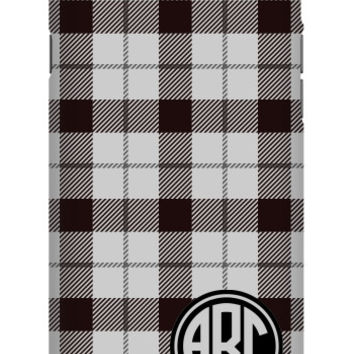 Plaid Monogram iPhone 6 Extra Protective Bumper Case