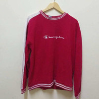 Champion sweatshirt Embroidery logo jumper vintage Sports wear