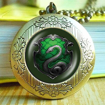 Salazar Slytherin Harry Potter vintage pendant locket necklace - ready for gifting