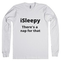 sleepy-Unisex White T-Shirt