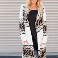 Gypsy Chunky Duster Sweater in Ivory