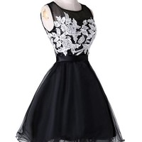 Grace Karin® Women's Organza with Appliques Beadings Short Cocktail Dresses