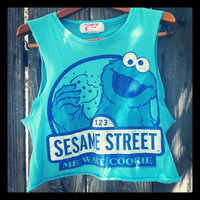 ON SALE Reworked Cookie monster Sesame street by NewSpiritVintage