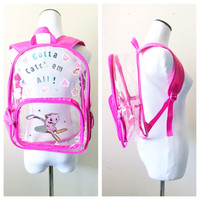 Vintage Pokemon Back Pack - Mew and his cute pink crew