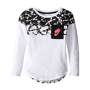 Nike Kids Club Aop Long Sleeve Pocket Top (Toddler)