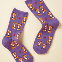 You Have My Vulpes Attention Socks | Mod Retro Vintage Socks | ModCloth.com
