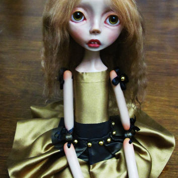 Handmade Collectible Unique -OOAK- Art doll- Clay Jointed - Claire