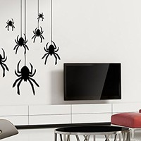 Wall Decal Crawling Spider Cobweb Halloween Vinyl Sticker Home Interior Design Art Wall Murals Bedroom Decor NS697