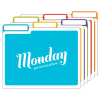 Days of the Week File Folders by Knock Knock - knockknockstuff.com