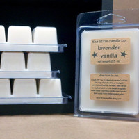 Soy Wax Melt Lavender Vanilla Scented Breakaway by littlecandles