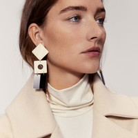 Geometric earrings - Women | MANGO USA