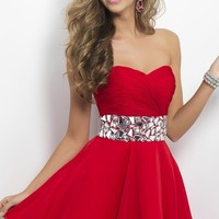 Short Strapless Dress by Blush