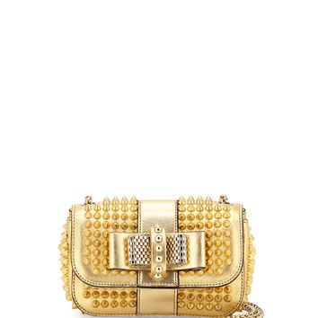 Sweet Charity Small Spiked Crossbody Bag, Golden - Christian Louboutin
