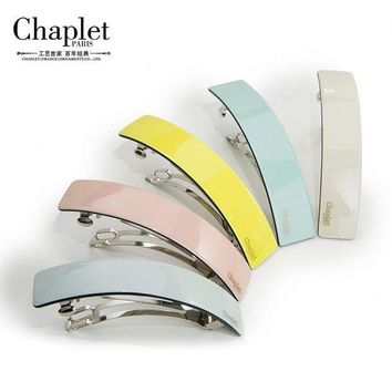 CREYCI7 Chaplet 2016 New Fashion High Quality Women Hair Accessories Solid Hair Clips for Women Acetate Simple Hair Clips Free Shipping