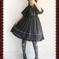 Sweet Sailor Style Lolita High Waist OP Dress $32.99 - My Lolita Dress
