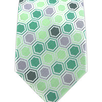 Honeycomb Craze - Greens (Skinny) from TheTieBar.com - Wear Your Good Tie Everyday