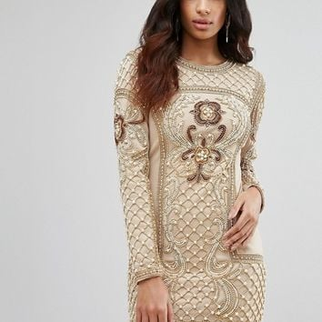 A Star Is Born Baroque Embellished Mini Dress at asos.com