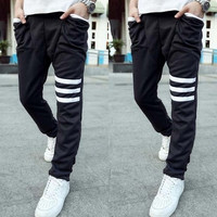 Men's Sports Gym Jogger Dance Slacks Loose Baggy Pants Trousers
