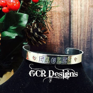 Customized Team & Colors Cuff Bracelet