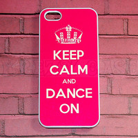 Iphone 5 Case, New iPhone 5 case Keep Calm and Dance On iphone 5 Cover, iPhone 5 Cases, Case for iPhone 5