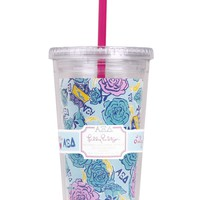 Alpha Xi Delta Tumbler with Straw by Lilly Pulitzer - FINAL SALE