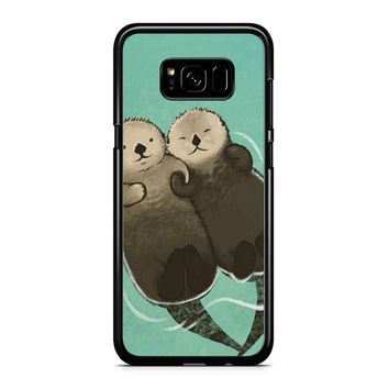 Significant Otters Otters Holding Hands Samsung Galaxy S8 Plus Case