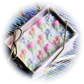 15 Decorated Sugar Cubes - Pastel Floral