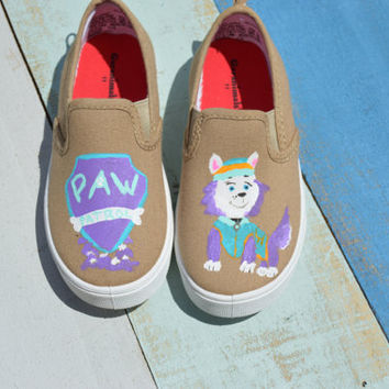 Everest Paw Patrol hand painted shoes/ Everest/ Paw Patrol