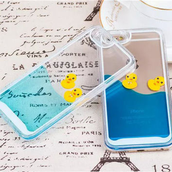 Cute Little Duck Jelly Silicone iPhone 4 4s 5 5s 6 6s Plus Case Gift