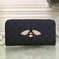 Perfect Gucci Women Leather Animal Print Purse Wallet For Snake Tiger Bee