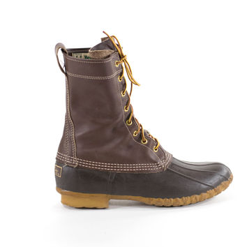 Duck Boots Vintage Leather Rain Winter Snow Boots Mens Size 8 / Womens Size 10