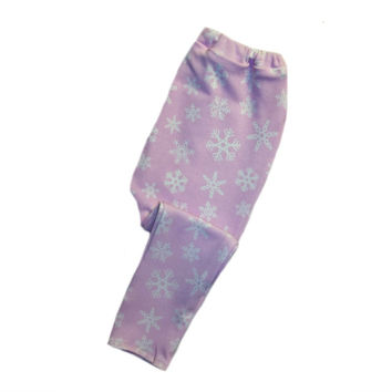 Pink Snowflake Baby Girl Winter Leggings