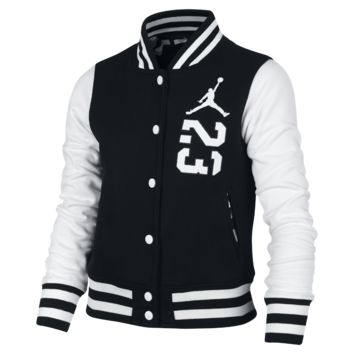 Jordan B23 Varsity Girls' Bomber Jacket, by Nike