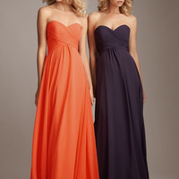 2012 Allure Bridesmaid - Pleated Chiffon Strapless Sweetheart Bridesmaid Dress - 2 to 28 - Unique Vintage - Homecoming Dresses, Pinup & Prom Dresses.