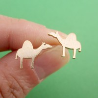 Adorable Sleepy Dromedary Camel Shaped Allergy Free Stud Earrings